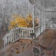 Terrace. Oil, canvas