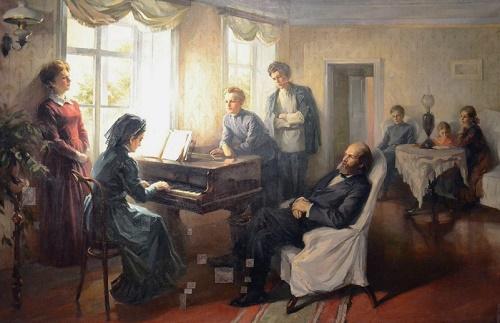 The family of Ulyanov. 1961