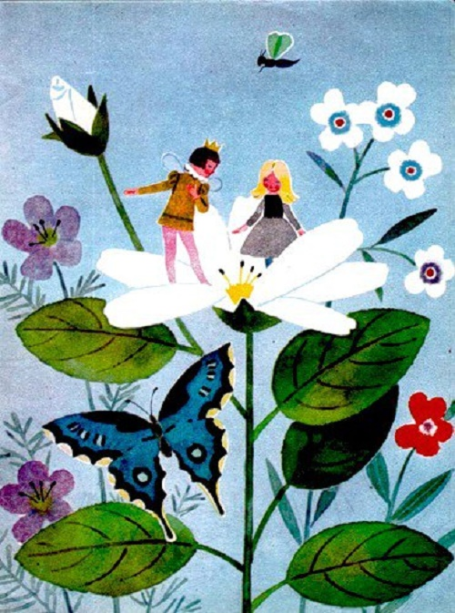 Thumbelina. Illustration by Tatyana Yeryomina