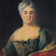 Unknown artist of the first half of the 18th century. Portrait of A. Chernyshova. Oil on canvas