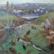 Ural Tansykbayev. 1904-1974. Spring. 1946. Oil on canvas