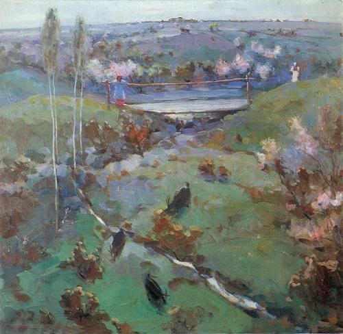 Ural Tansykbayev. 1904-1974. Spring. 1946. Oil on canvas