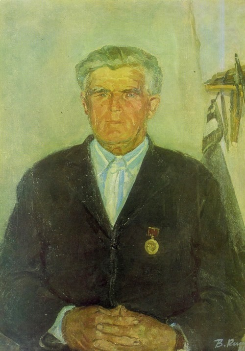 V.V. Kiselev (Moscow). Honored farmer, a veteran of war and work N. Prokofiev. 1981. Oil on canvas