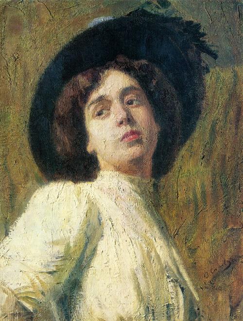 Valentin Serov. 1865-1911. Portrait of a woman. Oil on canvas