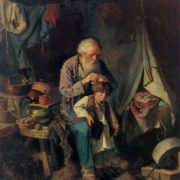 Vasily Perov. 1833-1882. Grandfather and grandson. 1871. Oil on canvas