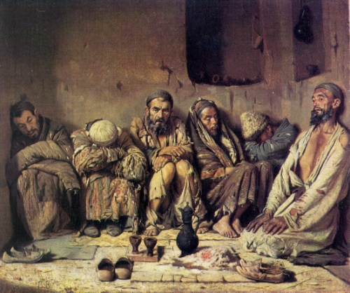 Vasily Vereshchagin. 1842-1904. Opium eaters. 1867. Oil on canvas