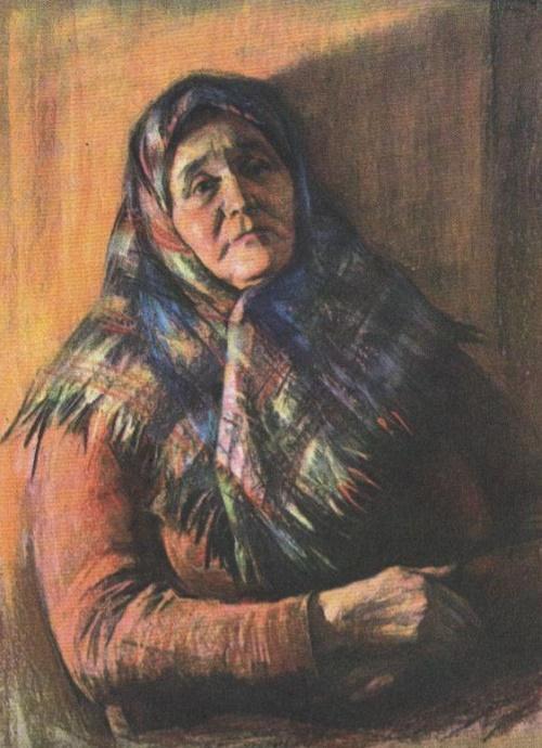 Veteran of the collective farm labor Tatiana Varfolomeevna Mandrykina