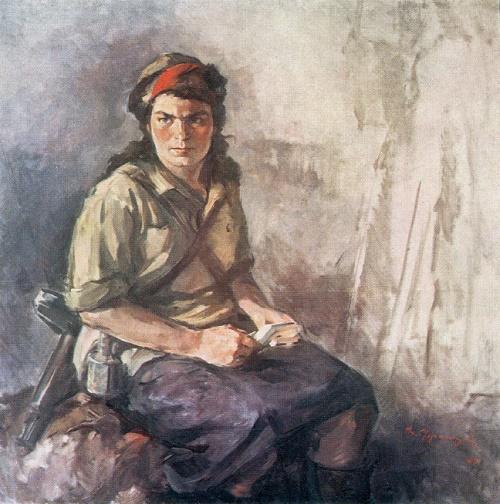 Viktor Ufimtsev. 1899-1964. Woman-partisan. 1944. Oil on canvas