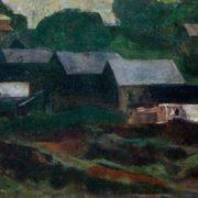 Village in rain. 1960