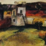 Yard in Mardakyany. 1967. Oil on canvas