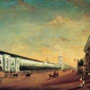 Yermolay Yesakov. 1790-1840. Gostiny Dvor (Warehouses) in St. Petersburg. Oil on canvas