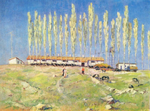 Zakir Inogamov. Born 1919. A farm. 1965. Oil on canvas