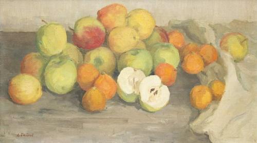 Apples. Still life. 1964. Oil on canvas