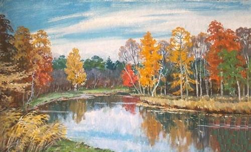 Autumn lake. 1998