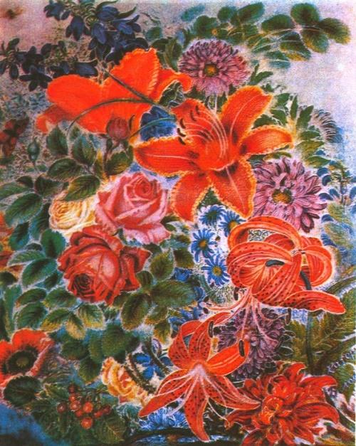 Bouquet of flowers. Oil. 1960