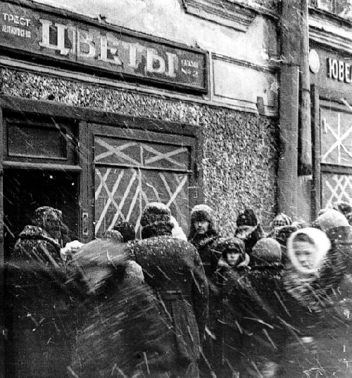 During the blockade of Leningrad (WWII)