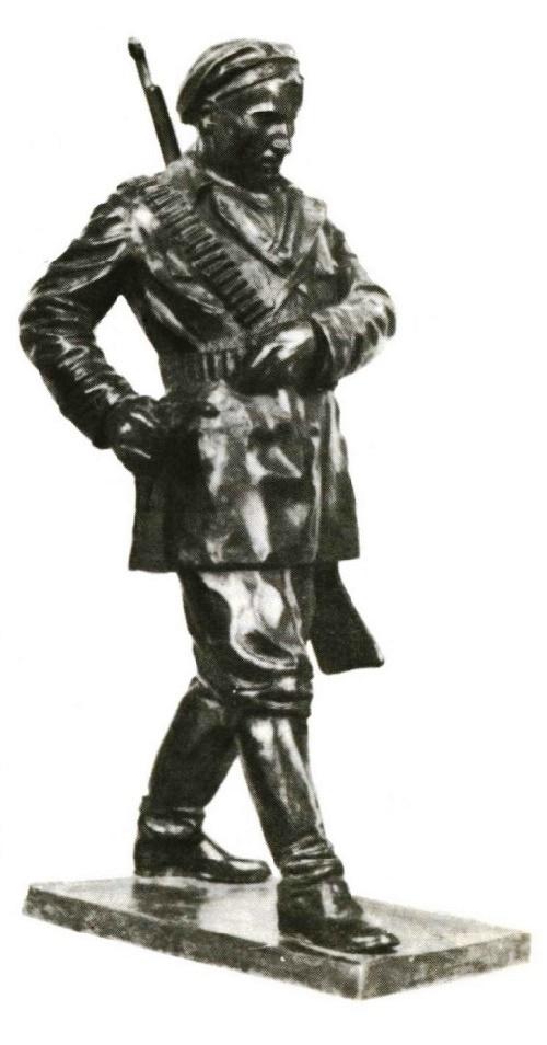 1918. A sailor from the cruiser Aurora. Bronze. 1928