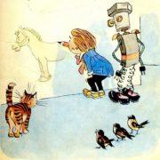 Illustration for the popular in the USSR magazine for children 'Murzilka'