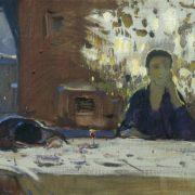 Ilya Glazunov. Morning of a new year. 1956