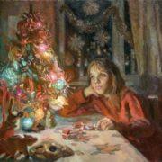 Maxim Tsagarev (b. 1951). At New Year tree. 1991