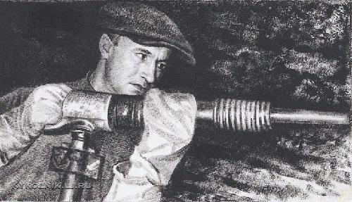 Miner, the master of a jackhammer, order bearer Pyotr Dmitrievich Bunkin 1930