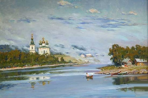 Morning on the river Svir