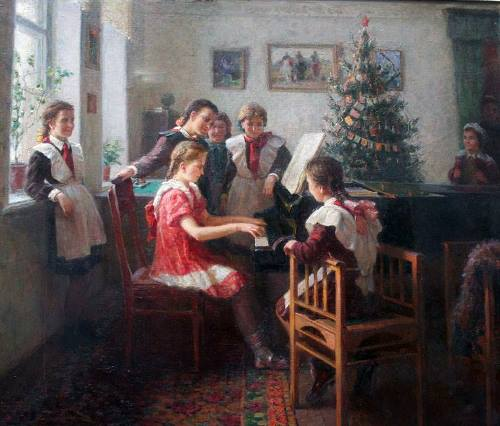 New Year tradition in Soviet art