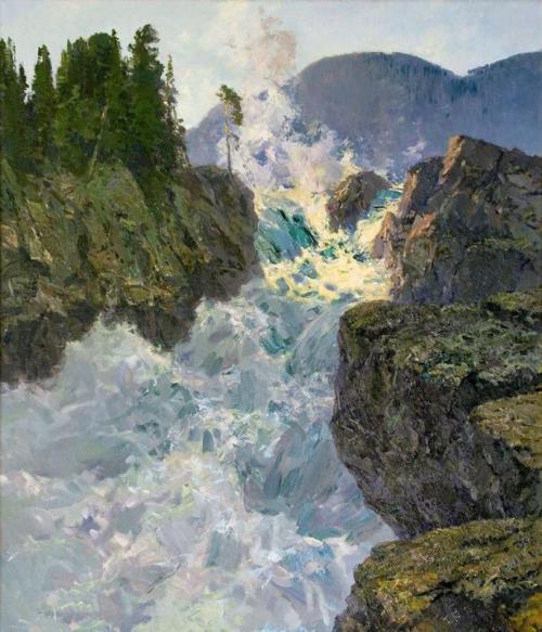 Raging mountain water