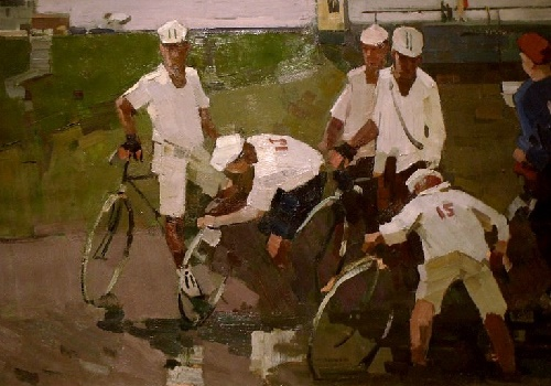 Sketch for the painting 'Cyclists'. 1965
