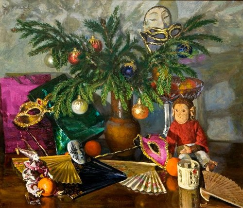 T.V. Bessonova. 'New Year'. 1955