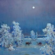 Twilight in tundra