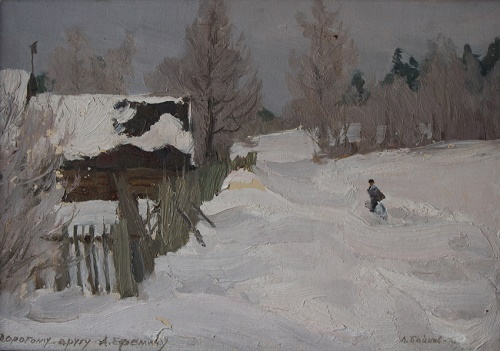 Winter in the village of Kisharino. 1979