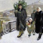 Yekaterina Tarakanova (b. 1932). Before New Year. 1951