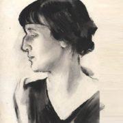 1928. Portrait of Anna Akhmatova