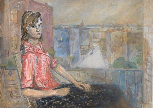 A girl on the balcony. 1963