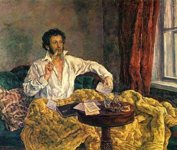 AS Pushkin in Mikhailovskoye. Oil. 1932