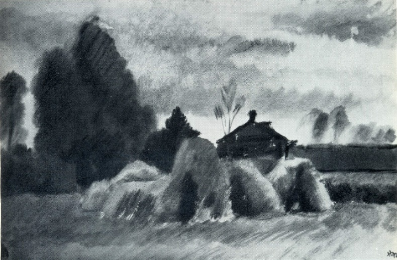 After a thunderstorm. Watercolor. 1929