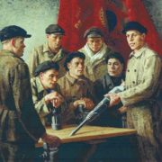 Before shift. The team of Stakhanov, 1937