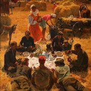 Breakfast in the field. 1977