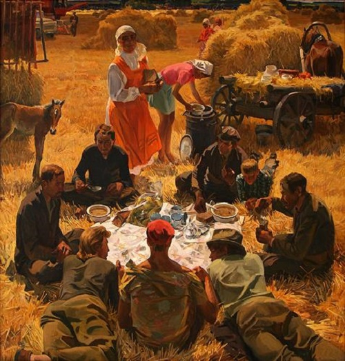 Breakfast in the field. 1977