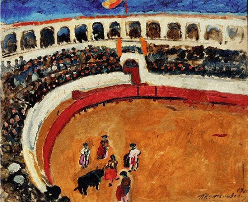 Bullfighting in Seville. 1910