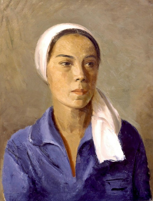 Chuvash woman, portrait 1932
