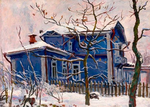 Dacha in winter, 1932