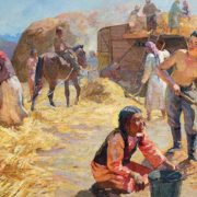 Detail. At the wheat grain yard. 1949