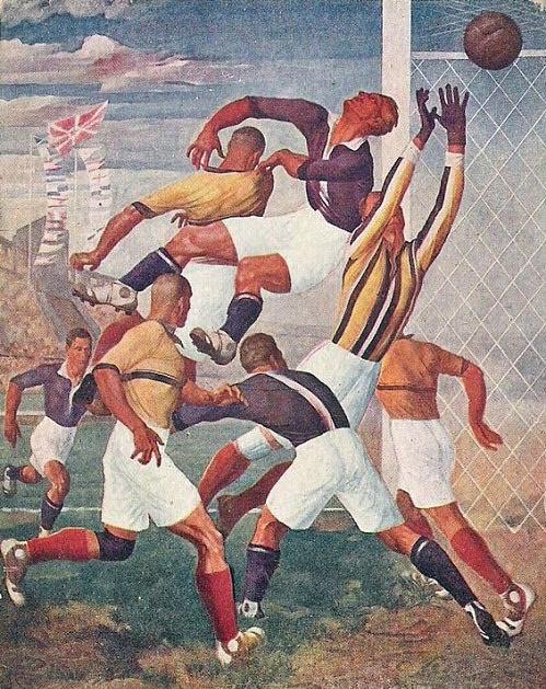 Football at the Games. 1930