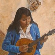 Girl with a Mandolin. 1978