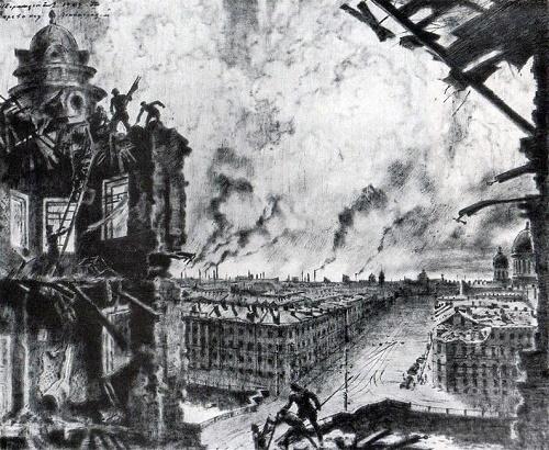 Glow over Leningrad. 1941