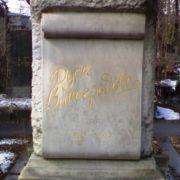 Grave monument to Evdokiya (Dusya) Vinogradova, Novodevichy cemetery