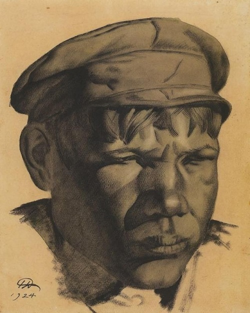 Head of a miner (Kizel mines), 1924