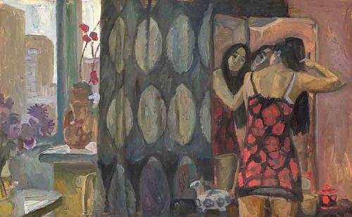 In Front of the Mirror. The Artist's Wife. 1973